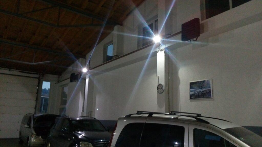 Aerotemprar, fläktluftvärmare i garage