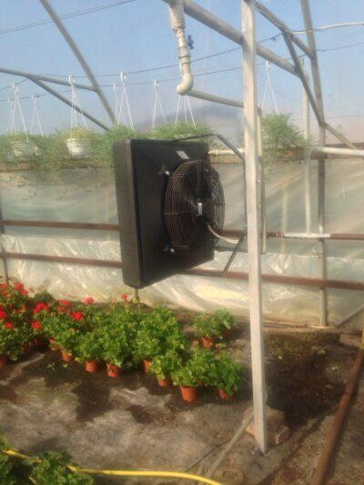 Fläktluftvärme, fläktluftvärmare växthus