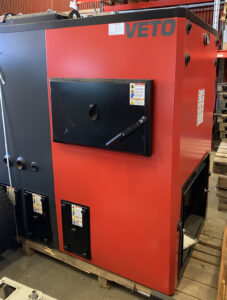 Flispanna stokerpanna Veto 220 kW med tuber